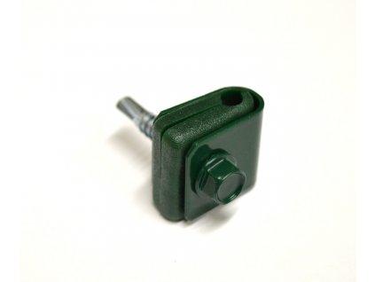 Příchytka PVC na nap.drát - zelená šroub. - STRONG