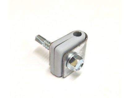 Příchytka PVC na nap.drát - pozink šroub. - STRONG