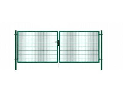 Brána výplň svařovaný panel 2D, výška 120x400 cm FAB zelená
