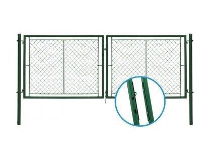 Brána dvoukřídlá UNIVERSAL - OKO/FAB, výška 120x400 cm