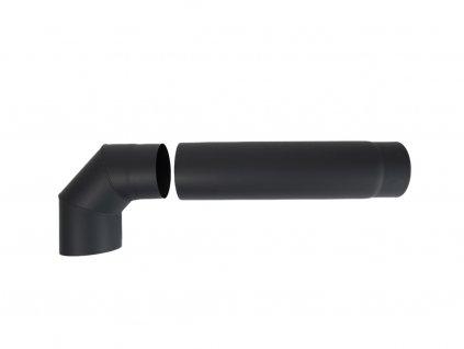 roura kouřová 130 mm/ 500 t.1,5 mm ČER