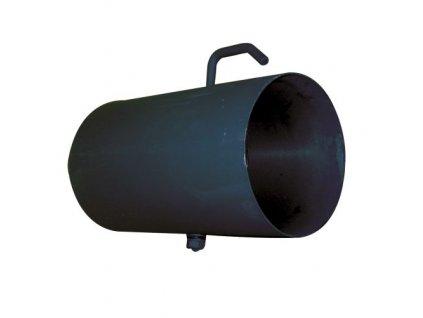 roura kouřová s klap.125 mm/ 250 t.1,5 mm ČER