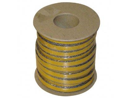 šňůra izolační 10 x 2 mm (500°C) lepicí (25m)