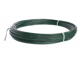 Napínací drát poplastovaný zelený (PVC) 2,2/3,2 mm, délka 32 m