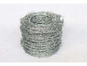 Ostnatý drát na plot pozinkovaný (Zn) průměr 1,8/2 mm, 50 m délka