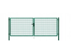 Brána výplň svařovaný panel 2D, výška 140x400 cm FAB zelená