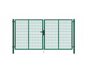 Brána výplň svařovaný panel 2D, výška 200x400 cm FAB zelená