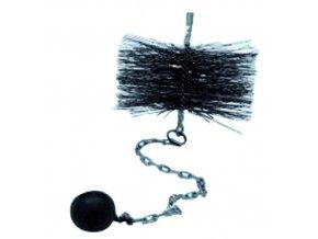 kartáč komínový 200 mm, oko-závaží 0,5kg