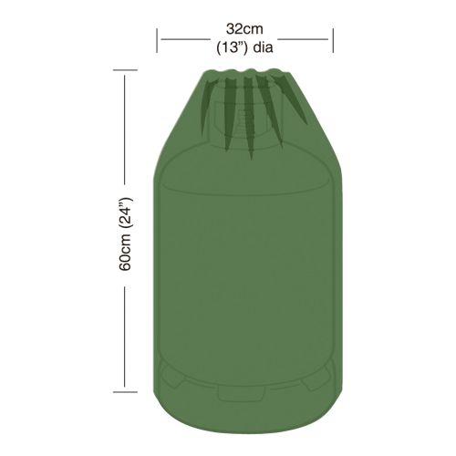 Levně Krycí plachta na plynovou lahev 15 kg, pr.32 x 60 cm, PE 90g/m2