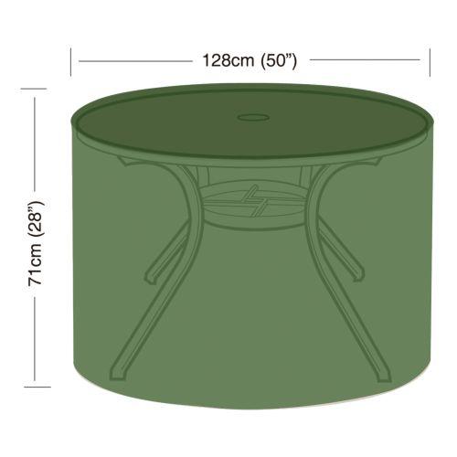 plachta krycí na kulatý zahradní stůl pr.128x71cm, PE 90g/m2