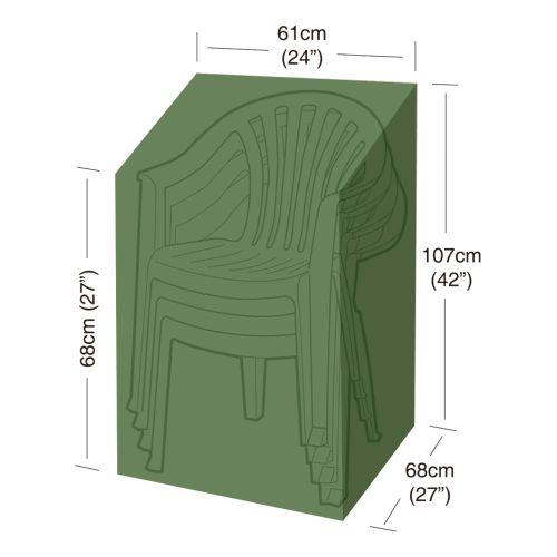 plachta krycí na 4 zahradní židle 61x68x107cm, PE 90g/m2