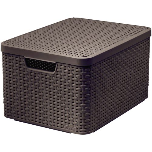CURVER box úložný RATTAN 44,5x33x25cm (L) s víkem, STYLE2, PH HN