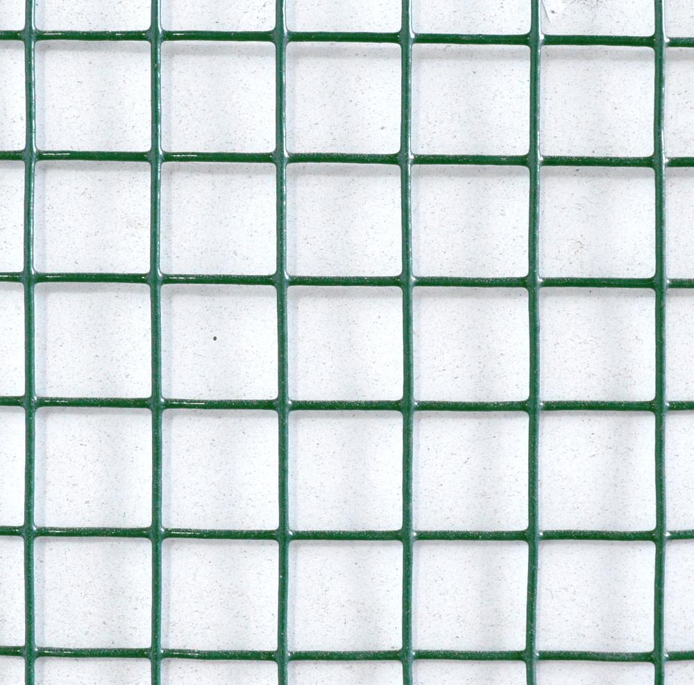 Pletivo na voliéry Zn+PVC zelené, oko 13x13 mm, drát 0,9 mm, výška 50 cm, role 5 m