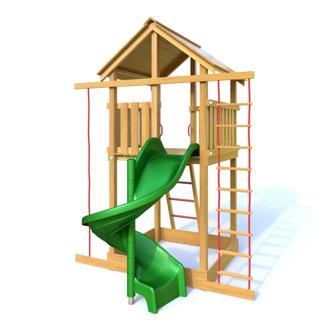 Palis Gym Dřevěné dětské hřiště - HONZÍK s tobogánem