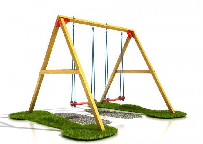 Palis Gym Dřevěné dětské hřiště - Stavebnice hřiště dvojhoupačka plus