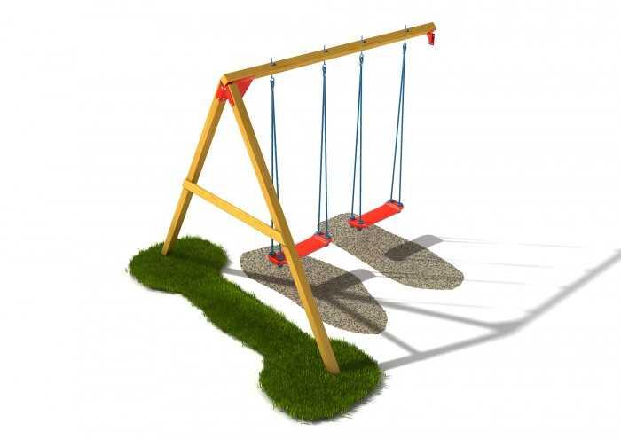 Palis Gym Dřevěné dětské hřiště - Stavebnice - Houpačkový modul plus