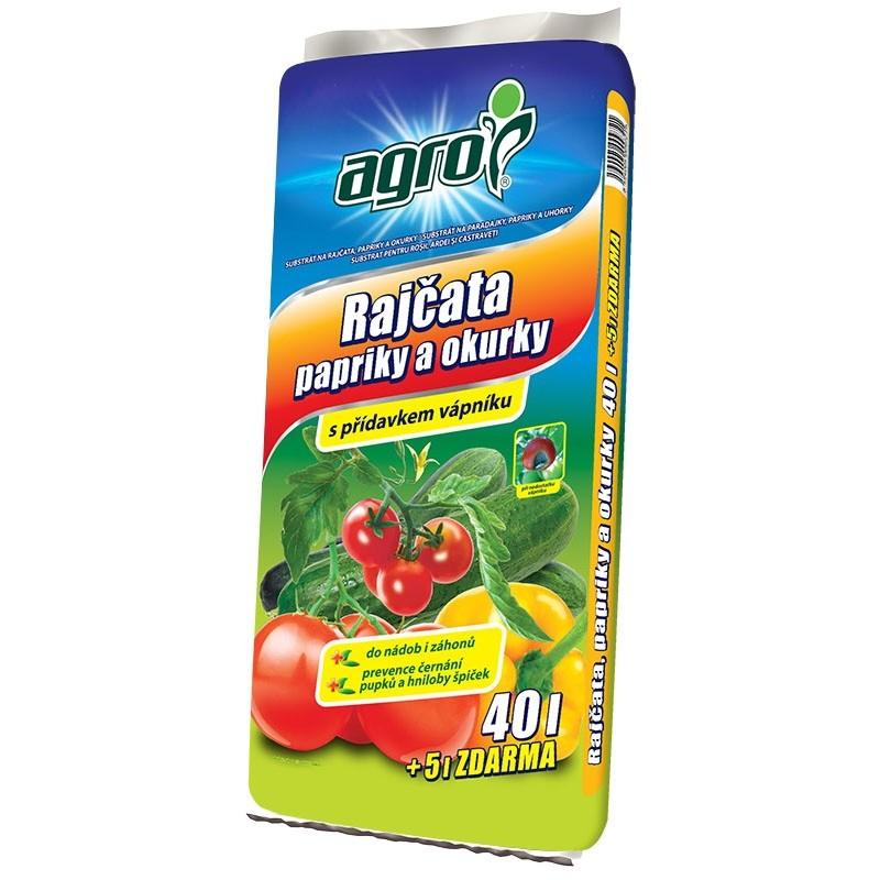 Substrát AGRO pro rajčata, papriky a okurky 40 + 5 l