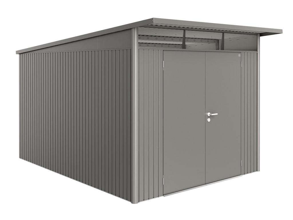 Levně Biohort Domek na nářadí AVANTGARDE® A8, šedý křemen, dvoukřídlé dveře