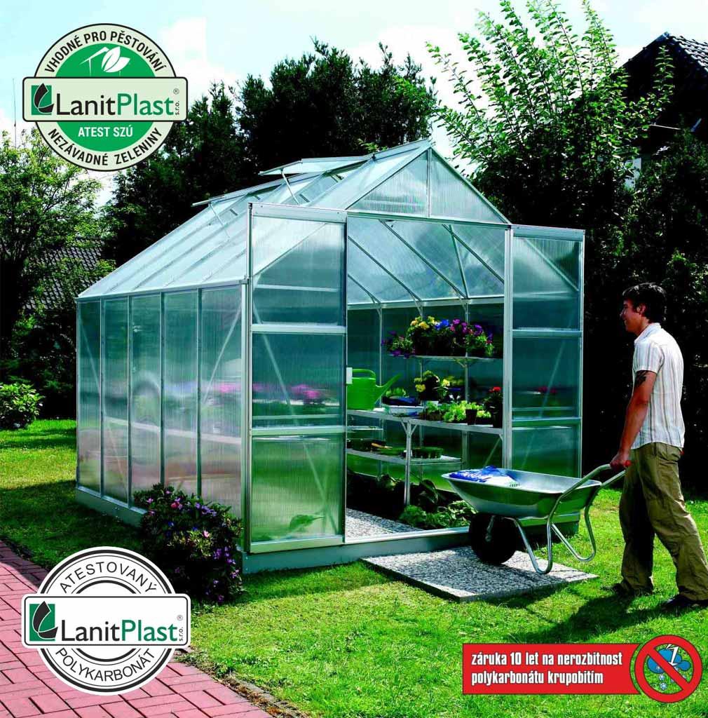 Vitavia Garden skleník VITAVIA URANUS 8300 PC 4 mm stříbrný