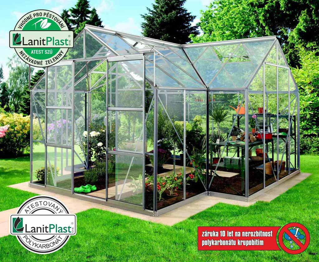 Vitavia Garden skleník VITAVIA SIRIUS PC 4 mm stříbrný