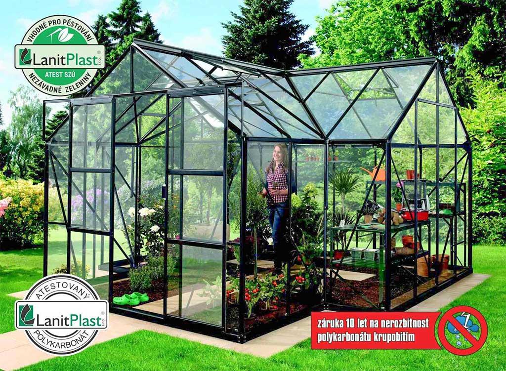 Vitavia Garden skleník VITAVIA SIRIUS PC 4 mm černý