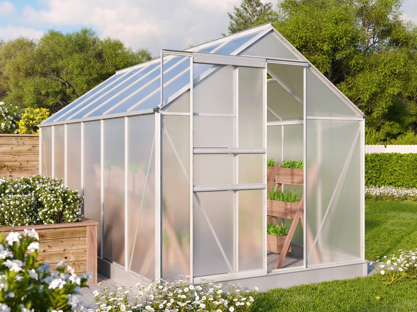 Vitavia Garden skleník VITAVIA TARGET 7500 PC 4 mm stříbrný