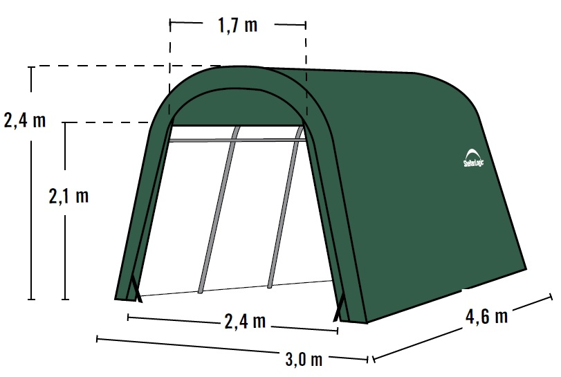 Plachtová garáž SHELTERLOGIC 3,0 x 4,6 m