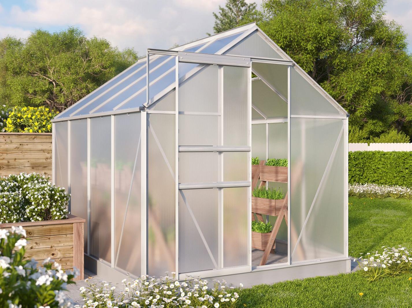 Vitavia Garden skleník VITAVIA TARGET 5000 PC 4 mm stříbrný