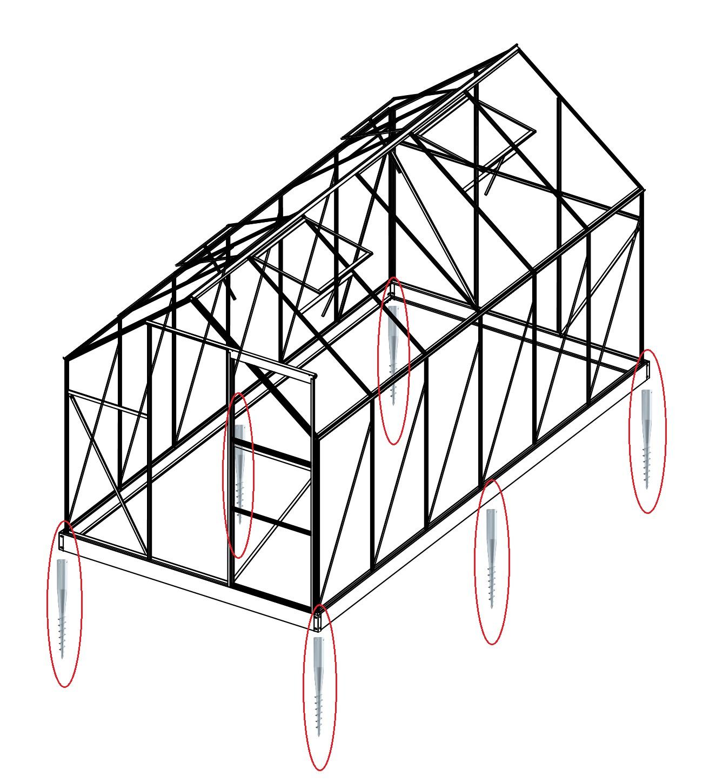 Lanit Plast Sada 8 zemní vruty (modely 8x7, 8x10, 8x12, 6700 - 9900)