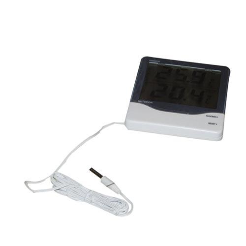 Teploměr digitální - venkovní/vnitřní 8 x 6 cm bílý