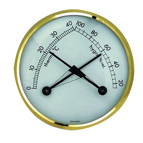 Teploměr s vlhkoměrem (kombinace) průměr 7 cm kovový