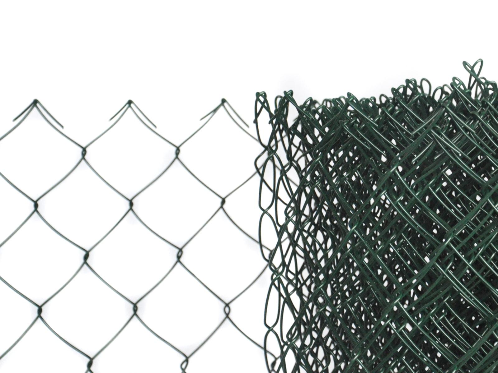 Pletivo poplastované výška 125 cm bez ND (2,5 mm; 50 x 50 mm; PVC; zelené)