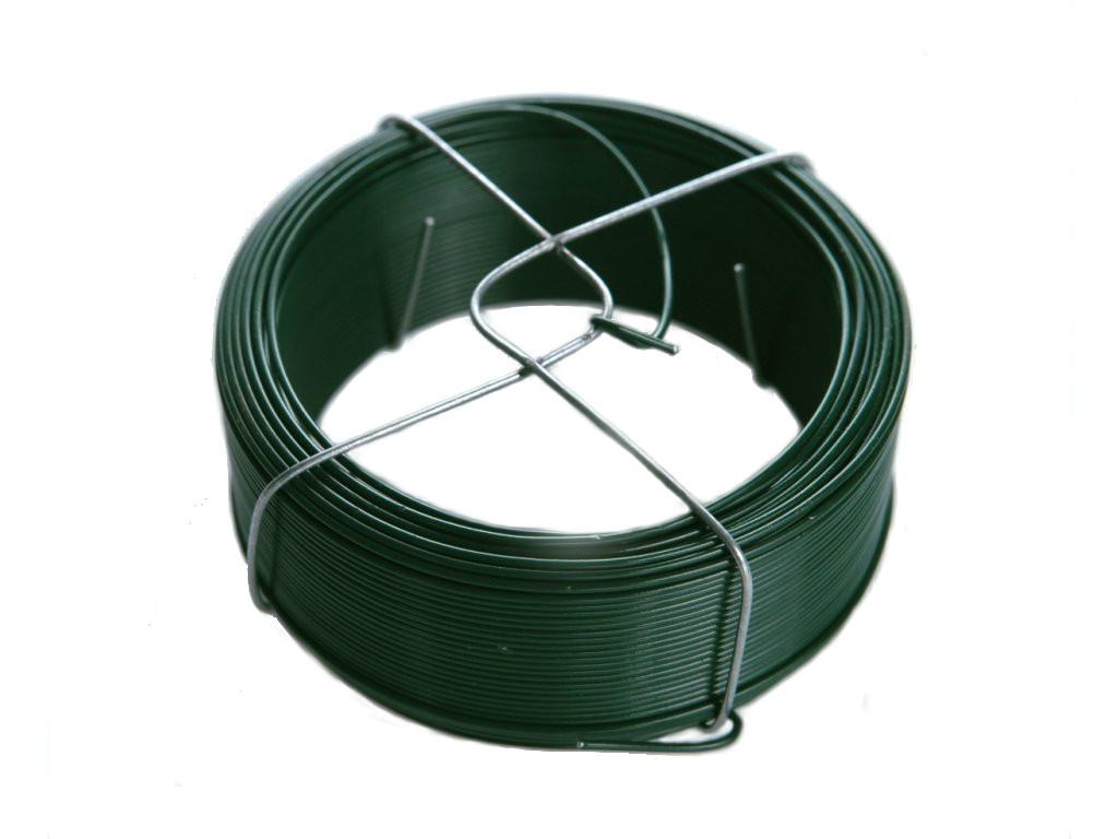 Vázací drát poplastovaný (PVC) ZELENÝ 1,4/2,0 mm, délka 50 m