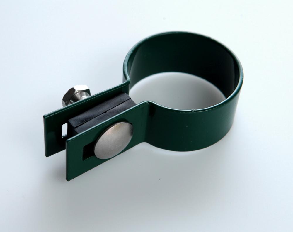 Příchytka plotového panelu na sloupek 48mm - koncová, zelená