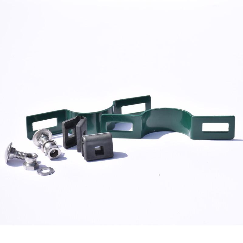 Příchytka plotového panelu na sloupek 48mm - průběžná, zelená