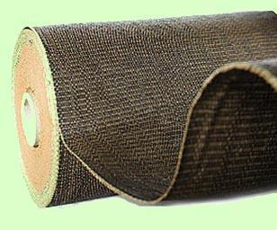 Tkaná textilie, hnědá/černá, 162 cm, 100 g