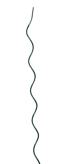 Tyč spirálová zelená k zelenině 7 mm x 1800 mm - pozink+komaxit