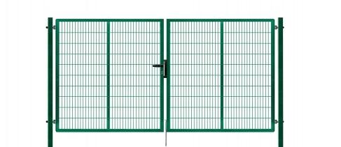 Brána výplň svařovaný panel 2D, výška 200 x 400 cm FAB zelená