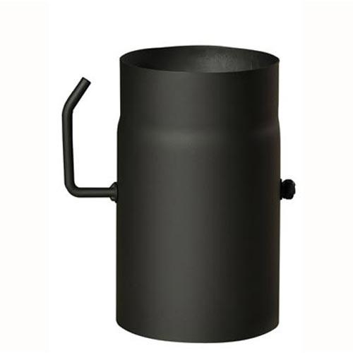 EUROMETAL roura kouřová s klap.130 mm/ 250 t.1,5 mm ČER