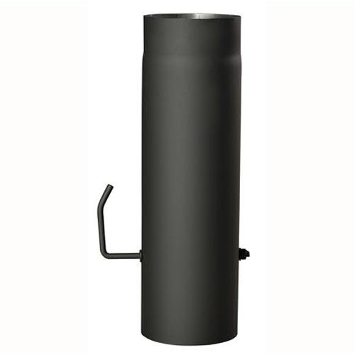 EUROMETAL roura kouřová s klap.130 mm/ 500 t.1,5 mm ČER