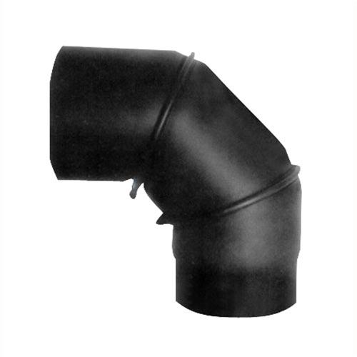 EUROMETAL koleno kouřové otočné 130 mm/90st.t.1,5 mm ČER