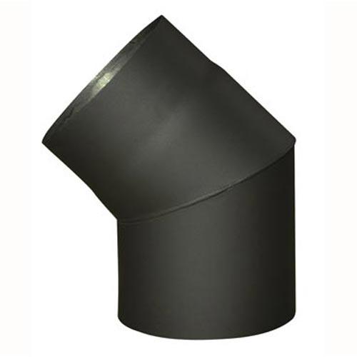 EUROMETAL koleno kouřové 145 mm/45st.t.1,5 mm ČER