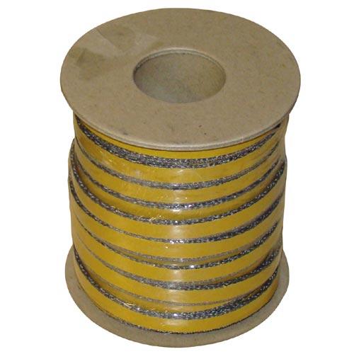 šňůra izolační 10 x 4 mm (500°C) lepicí (25m)