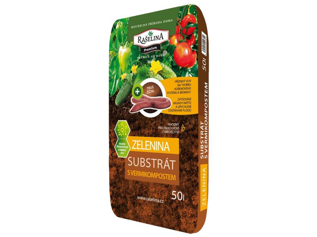 Substrat s vermikompostem pro zeleninu 50l