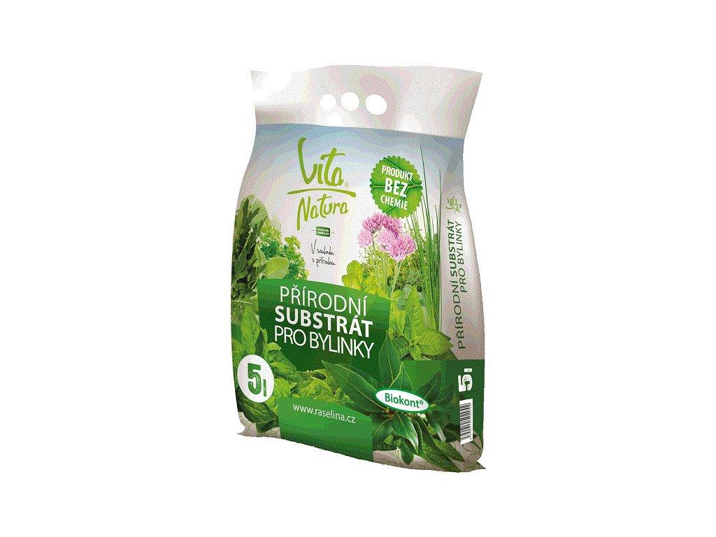 Přírodní substrát na bylinky 5l