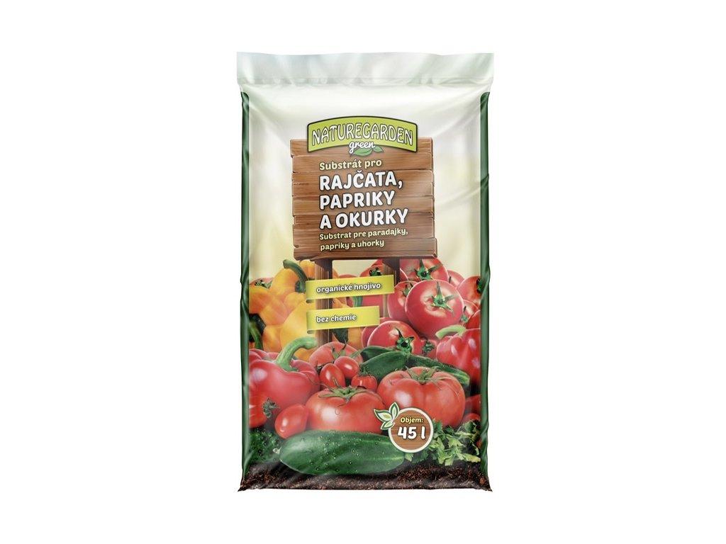 Substrát pro rajčata papriky a okurky 45l, Naturgarden Green