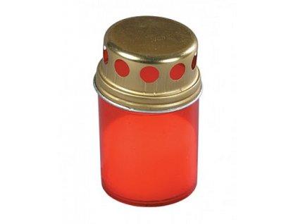 Hřbitovní svíčka červená s krytem 5906927001555