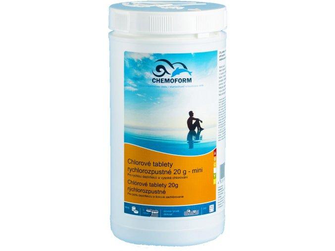 chlorove tablety rychlorozpustne 20g mini