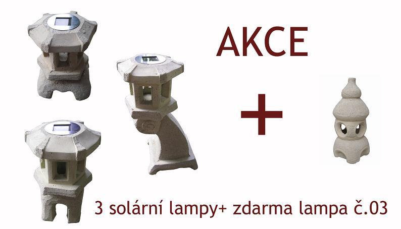 Solárne lampy 3ks + LAMPA ZADARMO