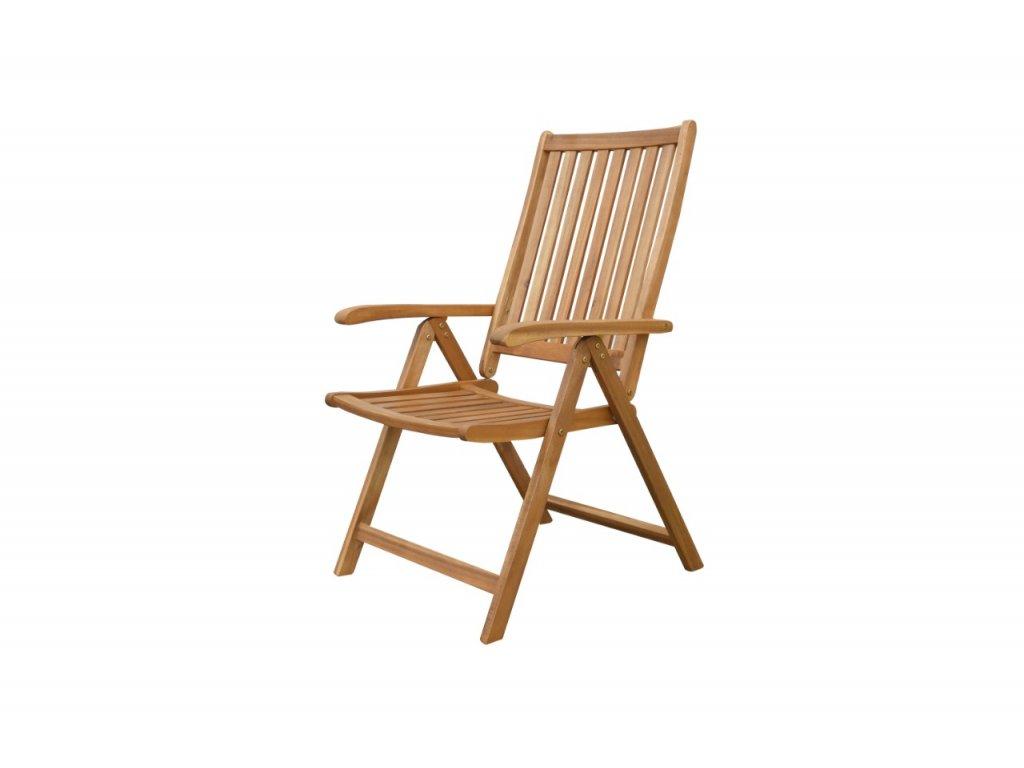 Polohovací dřevěná židle Brazil